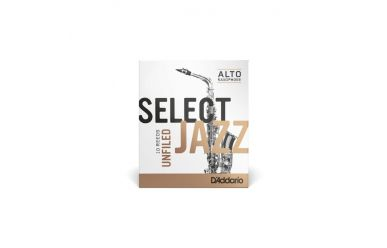DAddario Select Jazz Altsaxophonblätter Stärke 2H Unfiled
