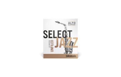 DAddario Select Jazz Altsaxophonblätter Stärke 3H Unfiled
